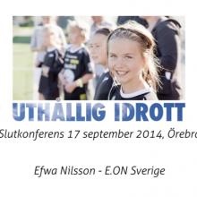 Dokumentation av föreläsningar för Regionförbundet Örebro