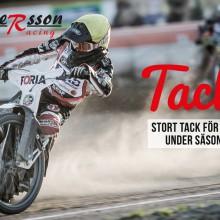 Tackbroschyr & kort för Andersson Racing
